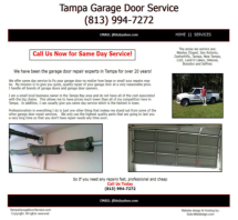 Tampa Garage Door Service